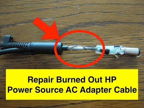 3min repair a burned out hp power source ac adapter youtube. Black Bedroom Furniture Sets. Home Design Ideas