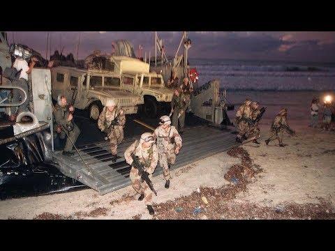 Marines arrive in Mogadishu - 12/9/1992