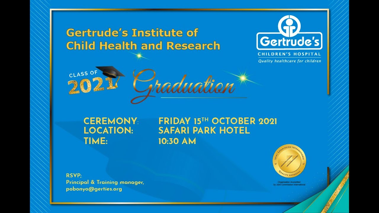 Download Gertrude's Institute of Child Health & Research 15th Graduation Ceremony