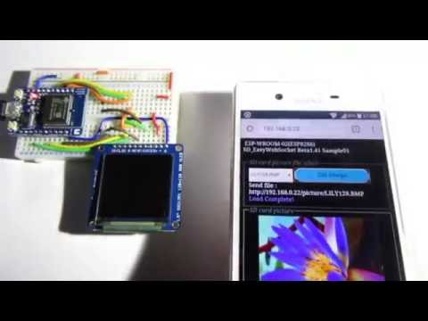 To get the image files from the SD card in the ESP8266, displayed on the smartphone.