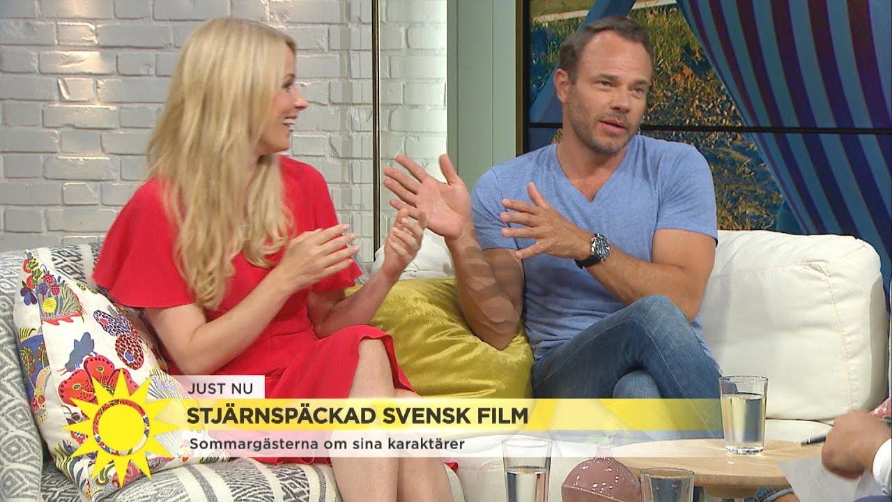"""Skådespelarduon på filminspelning i New York: """"Nyp dig nu David – det brukar va - Nyhetsmorgon (TV4)"""