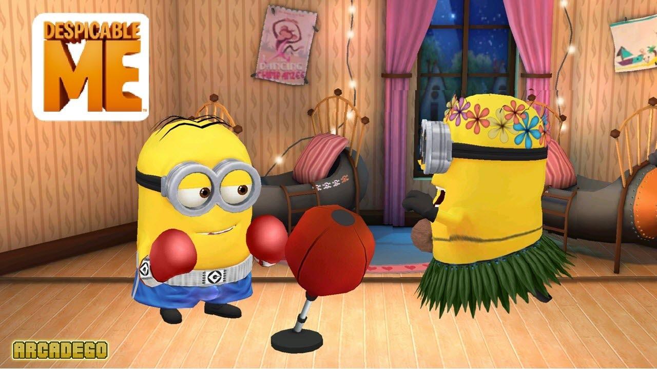 Despicable Me 2 Minion Rush Boxer Minion vs Dancer Minion Purple Evil  Minions and El Macho 70604c2674
