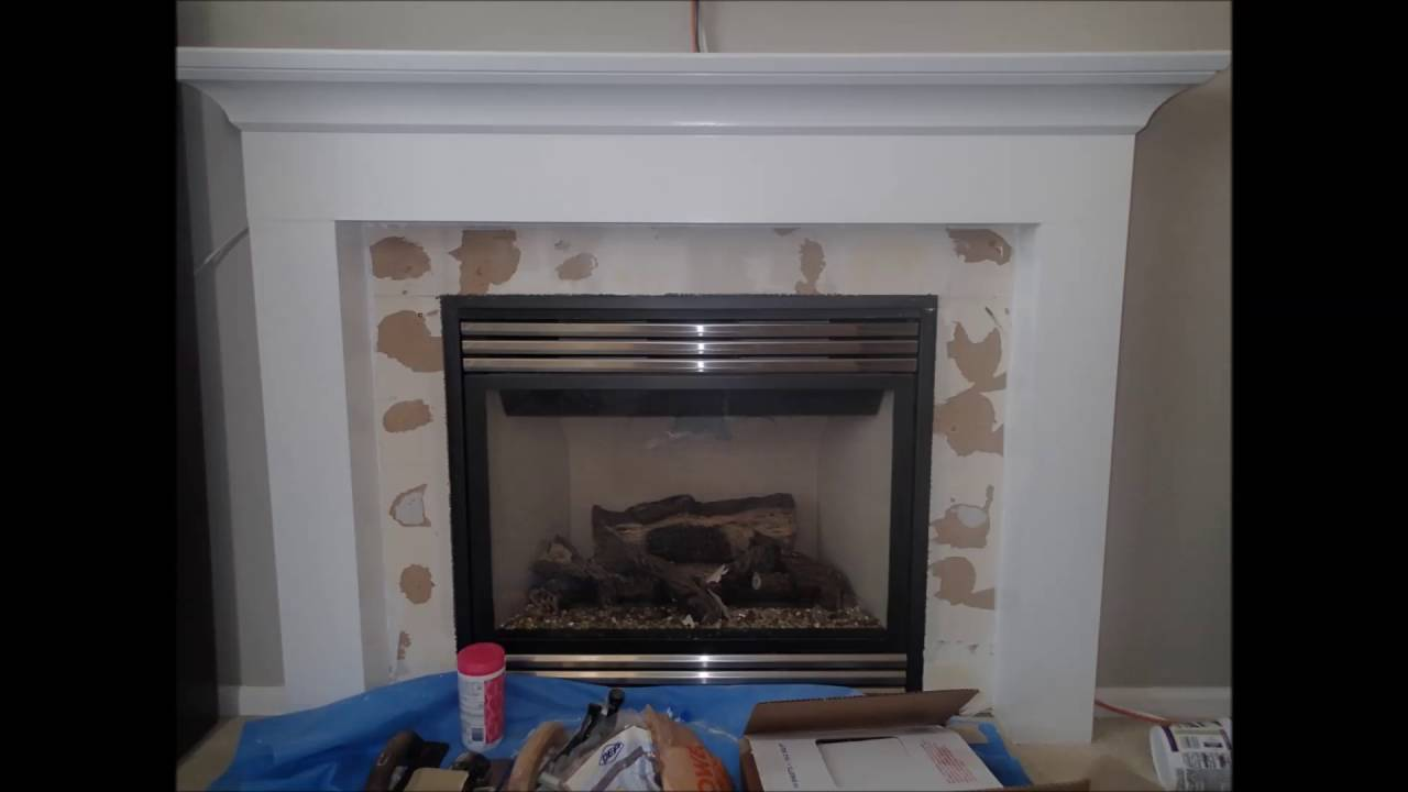 Tile Around Gas Fireplace