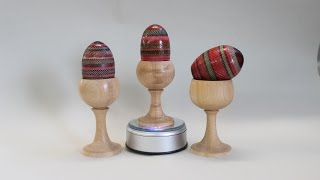 Easter Eggs In Wood: Textured And Colored... By Sam Angelo
