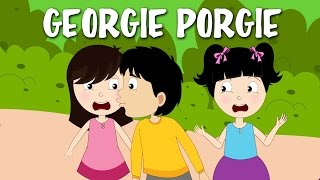 Georgie Porgie Pudding And Pie | Nursery Rhyme With Lyrics | English Rhymes For Kids