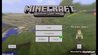 minecraft pocket edition #5= construindo uma cerca pra cavalo , pegando um cavalo e trocando a skin