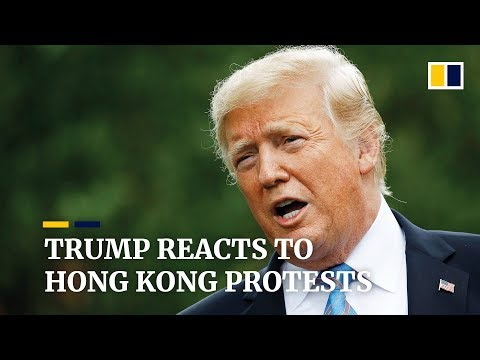 Trump says Hong Kong and Beijing can 'work it out' after massive extradition bill protests