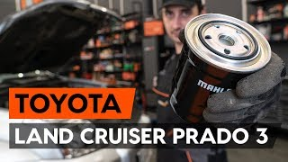 How to replace fuel filter TOYOTA LAND CRUISER PRADO 3 (J120) [TUTORIAL AUTODOC]