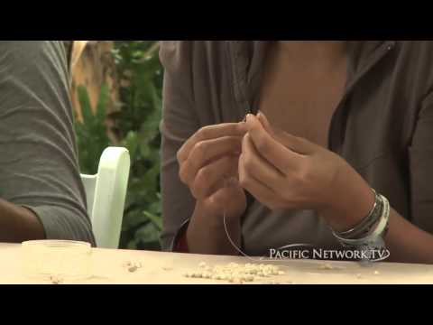 Hawaii Artists - Niihau Shell Lei Making Pt 1
