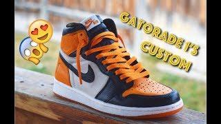 """Gatorade 1 """"Orange Peel"""" Shattered Backboard Custom + On Feet!!!"""