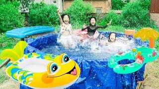 Cách Thông Minh Để Làm Bể Bơi To Nhất ❤ Top video Mỳ Cay - Trang Vlog