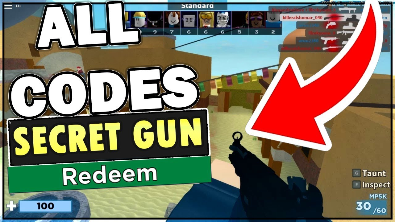all codes in arsenal roblox