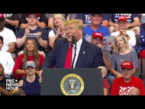 WATCH: Trump Holds A Campaign Rally In Cincinnati, Ohio