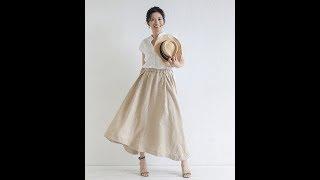TP040 アシンメトリースカート Asymmetry skirt https://pattern.handma...