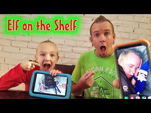 Elfie Selfies! Hilarious Elves Prank Dad's Phone!!!