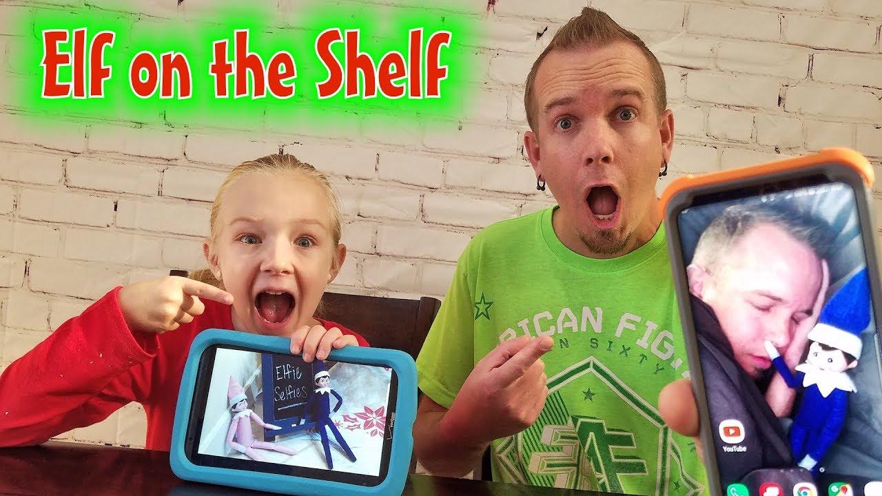 Download Elfie Selfies! Hilarious Elves Prank Dad's Phone!!!