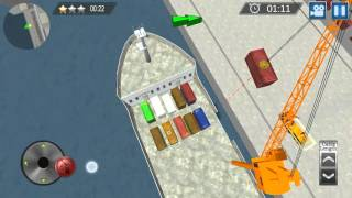 Cargo Ship Construction Crane Android Game Play [Full Tutorials]