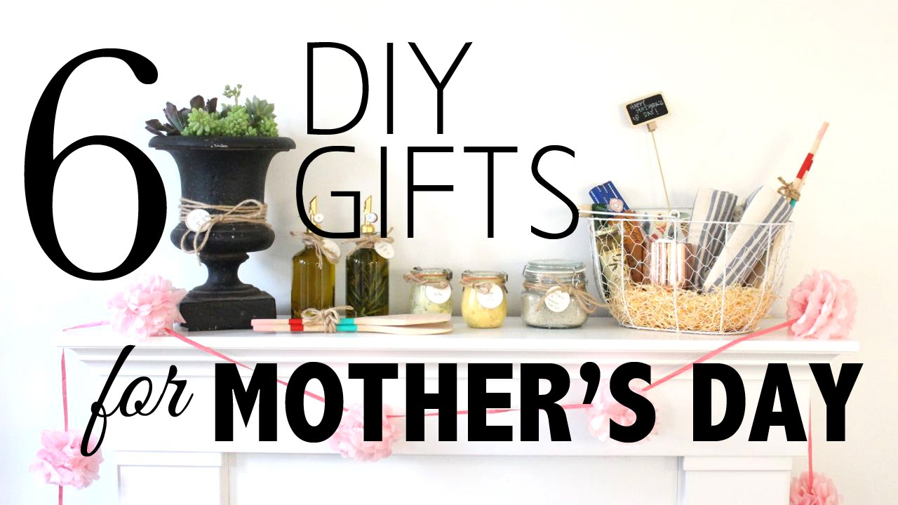 6 diy gifts for mother u0027s day youtube