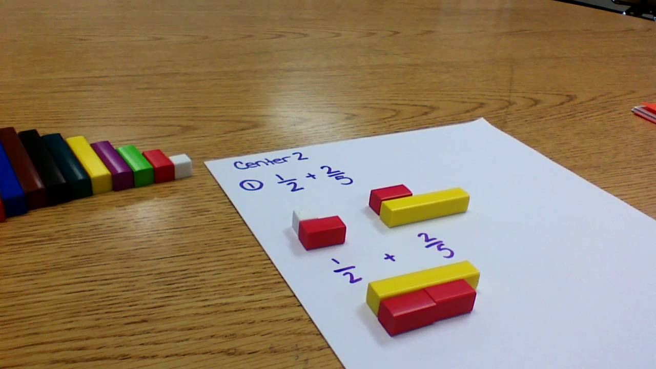 center   adding fractions with cuisenaire rods  youtube center   adding fractions with cuisenaire rods