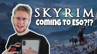 ESO Skyrim 2020! CONFIRMED! | Casual_Ranger + KyleDempsterStudios freakout