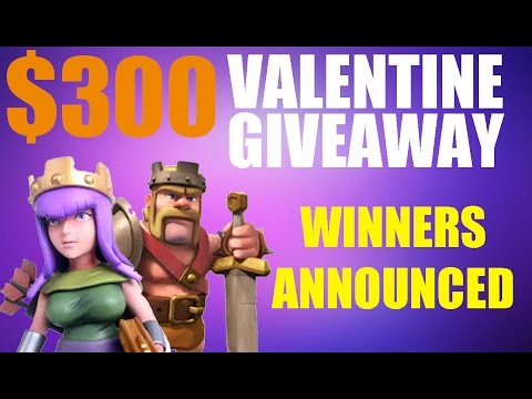 Clash Of Clans: Valentine Giveaway Winners Announced!!