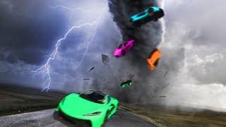 УЖАСНОЕ ТОРНАДО ЗАСОСАЛО В ГИГАНТСКУЮ ВОРОНКУ! (GTA 5 Смешные Моменты)