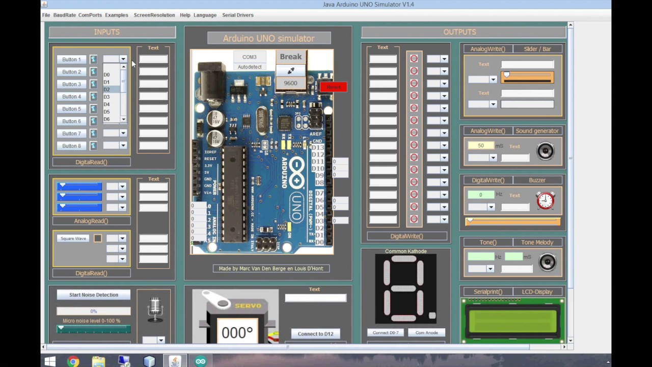 How to use the Arduino simulator 1 4