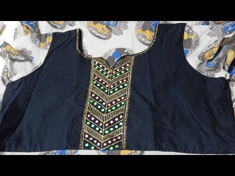 Diy Liquid Embroidery Designs On Kurtis Youtube
