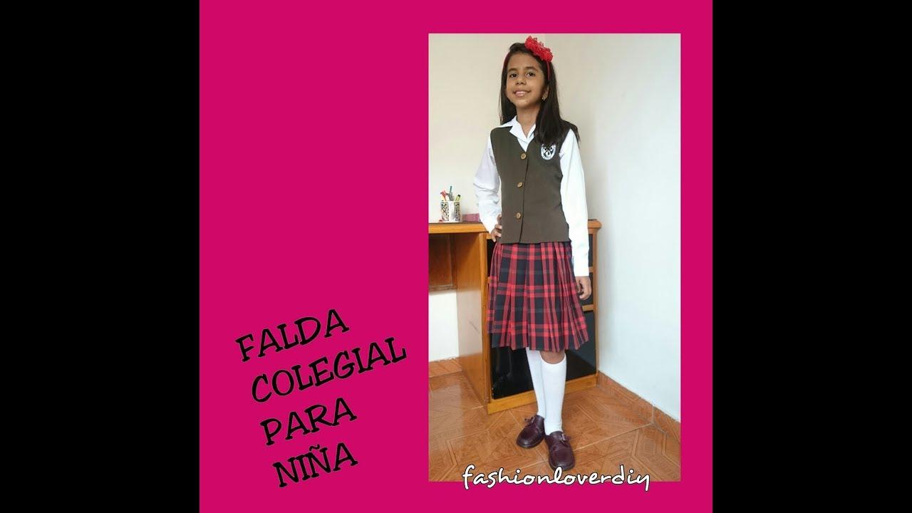 406faf972 Falda Colegial Paso A Paso