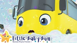 Bubble Bath Song - Go Buster the Yellow Bus | 20 min of Nursery Rhymes & Cartoons | LBB Kids