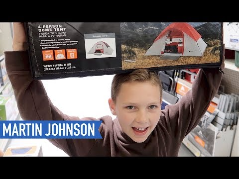 Shopping for Cheap Tents at Walmart | American Road Trip