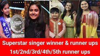 Superstar singer winner & runner up ! 1st,2nd,3rd,4th,5th || Ankona, Sneha, mouli, harshit, nishtha