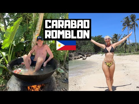 British DAD Gets Cooked ALIVE in Carabao Island! The NEW BORACAY, Philippines?!