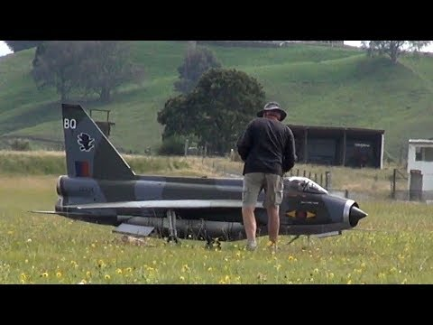 Absolutely nothing happens to this huge jet-powered RC plane