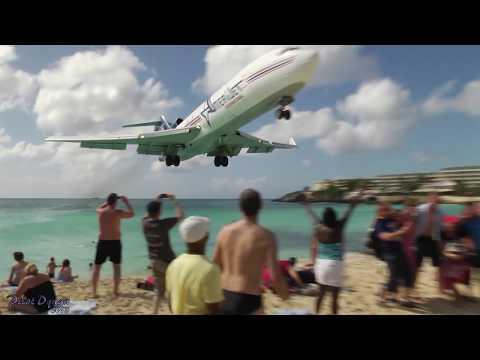 INSANE Landing!!! Amerijet / Boeing 727 landing at Princess Juliana, St Maarten (Full HD1080p)