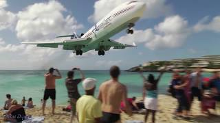 INSANE Landing!!! Amerijet / Boeing 727 landing at Princess Juliana, St Maarten (Full HD1080p)