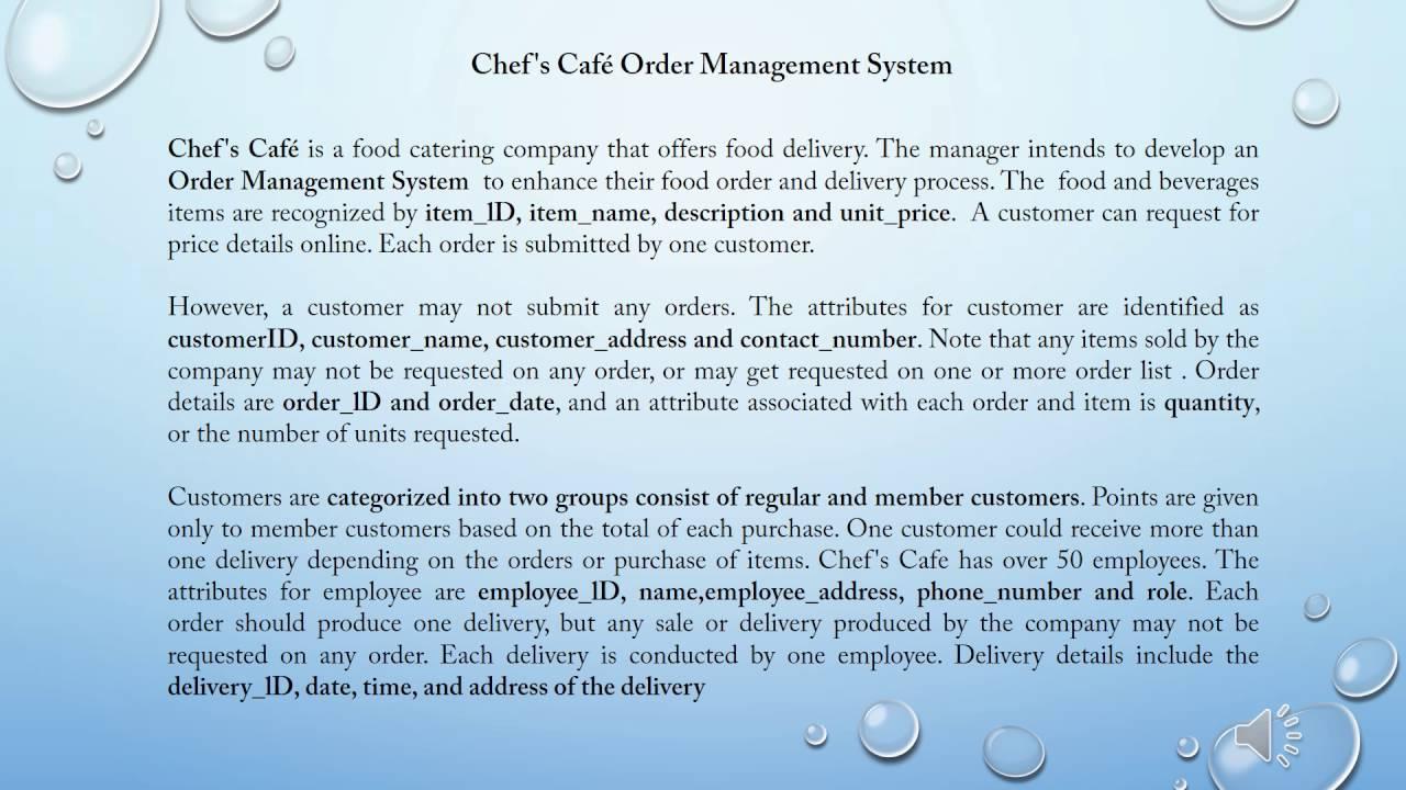 Chef\'s Café Order Management System ERD (assg 1) - YouTube