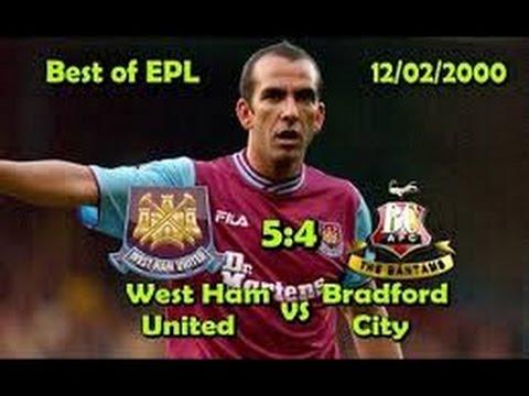 West Ham Utd 5 Bradford City 4 12 February 2000