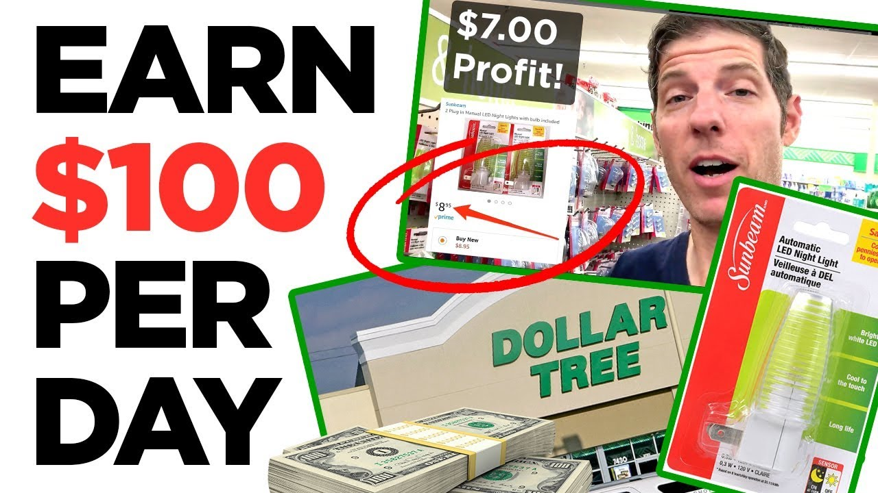 Earn Per Day at DOLLAR TREE With Retail Arbitrage