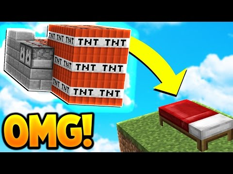 TNT WARS in Minecraft BED WARS! (INSANE CANNON TROLLING)