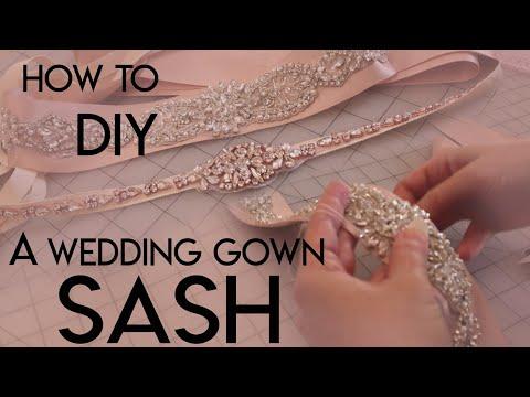 How To Make Your Own DIY Bridal Sash Belt, Applique, Ribbon