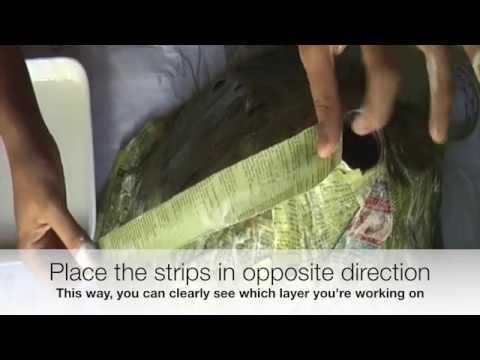 How to build an erupting volcano using Papier Mache
