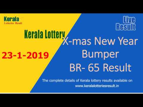 Christmas New Year Bumper Lottery Result BR-65 (23-1-2019) - Kerala Lottery