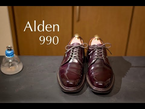 Alden 990 No.8 Cordovan Shoeshine (Full ver)