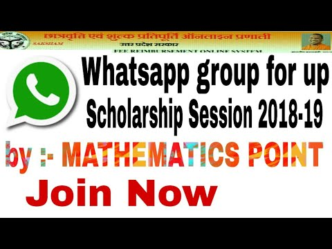 Whatsapp group for up scholarship session 2018-19