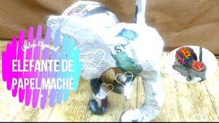 🎨 Cómo hacer un Elefante 🐘 de papel maché | Colaboración con el taller de ire