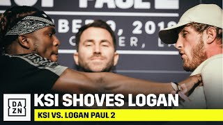 KSI SHOVES Logan Paul During Intense Face-Off