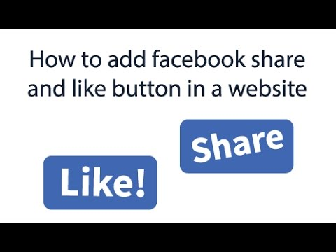 How to add facebook share and like button in a website