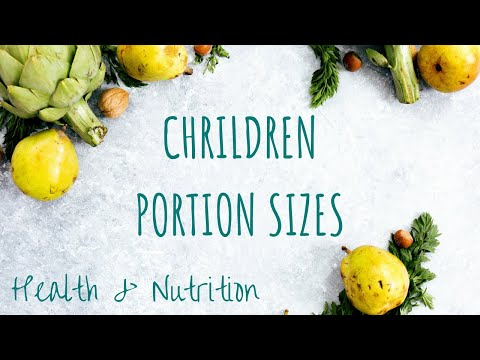 Helping Sizes and Diet for Toddlers