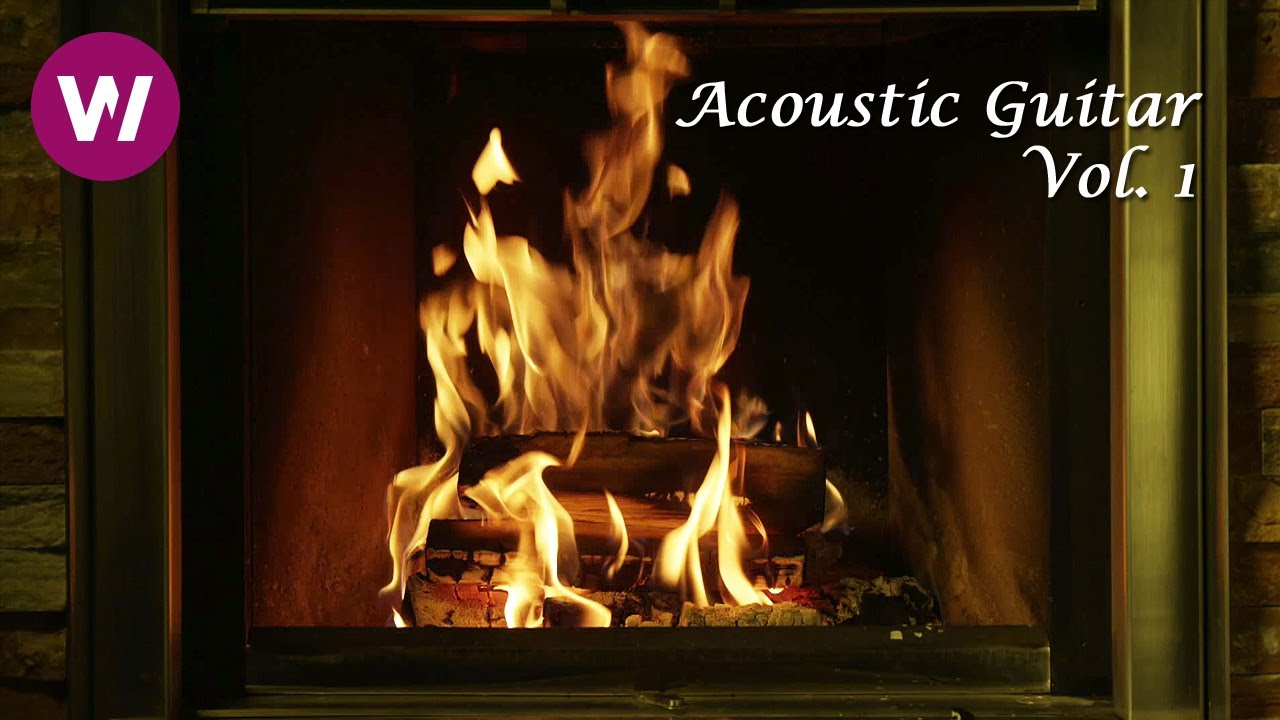 relaxing fireplace with acoustic guitar wocomoambient youtube
